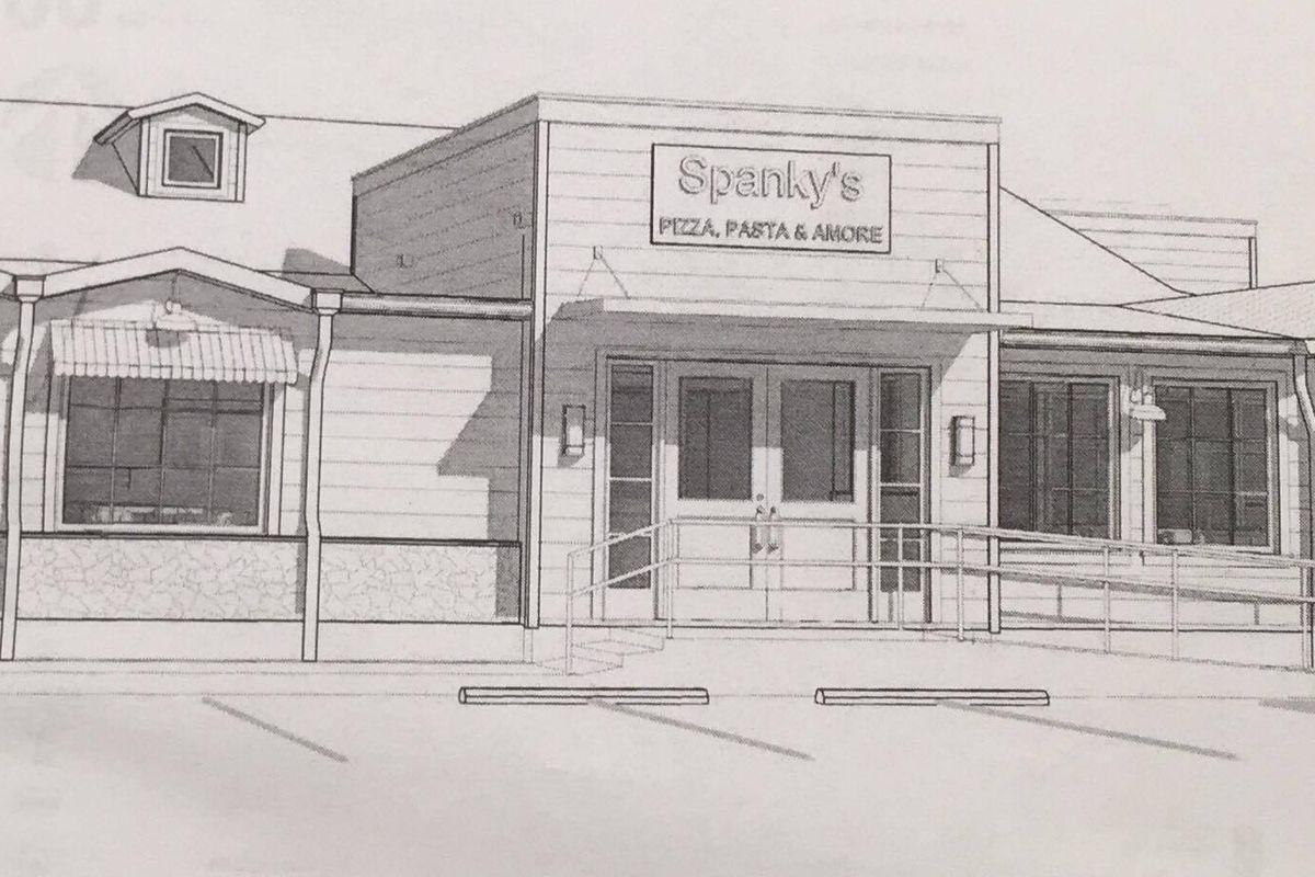 Rendering for Spanky's Pizza in Pasadena
