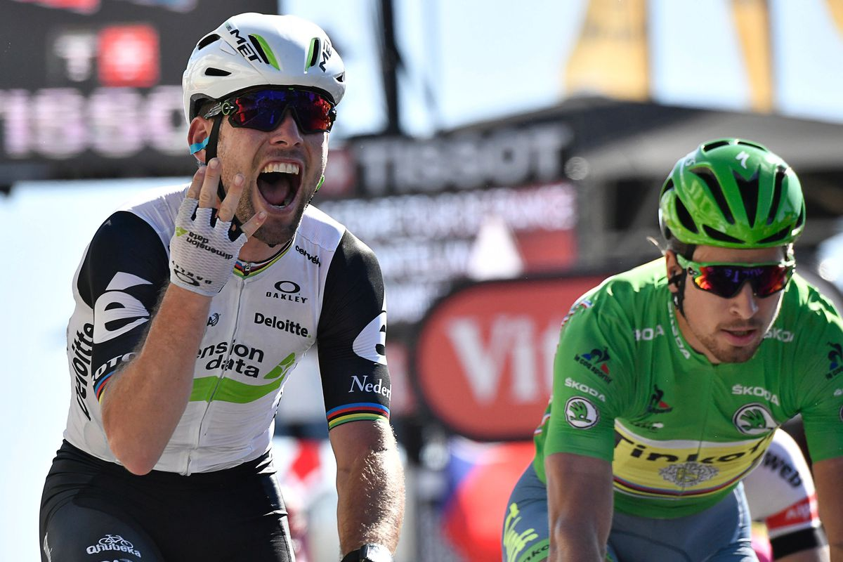 Mark Cavendish, left, and Peter Sagan (GettyImages)