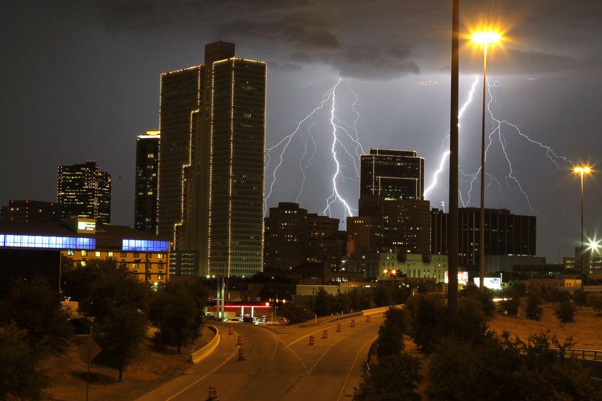 Lightning in Fort Worth, Texas