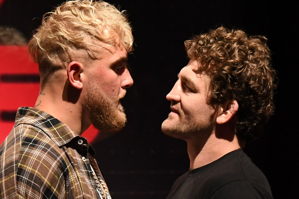 Jake Paul and Ben Askren square off ahead of their boxing match on April 17th.