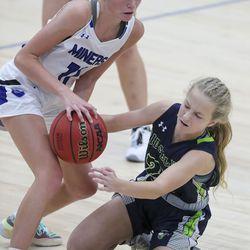 Ridgeline plays Bingham in a girls basketball game at Bingham High School in South Jordan on Friday, Dec. 4, 2020. Bingham won 37-32