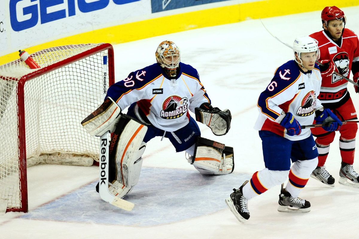 Jordan Hendry lead the Admirals with 7 shots on goal.