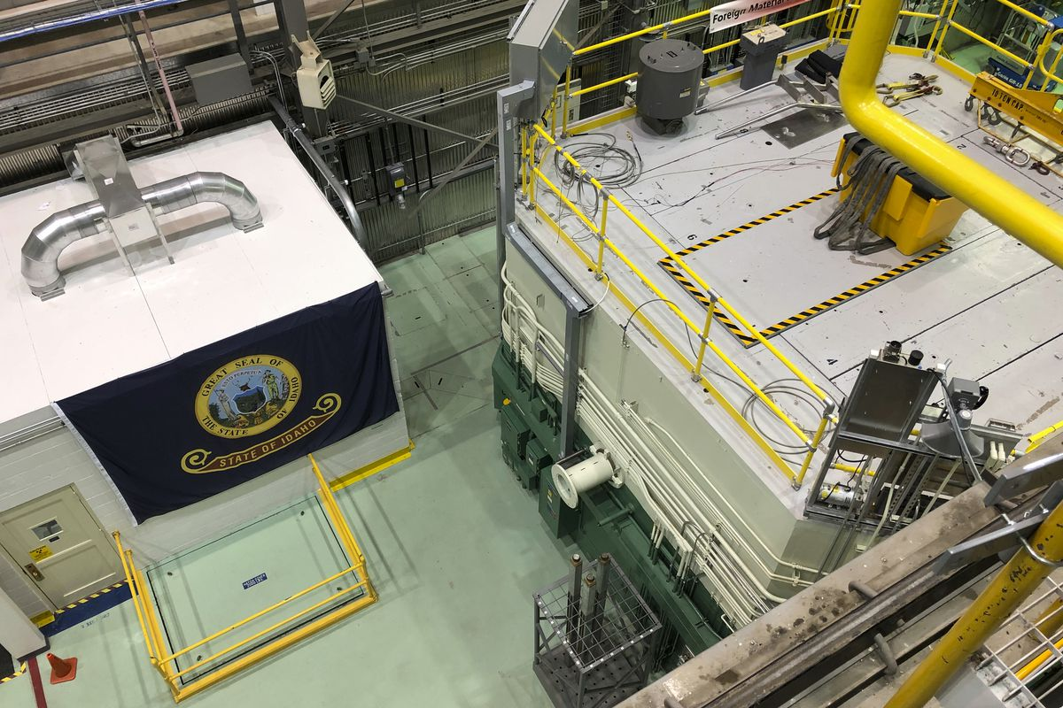 This Nov. 29, 2018 photo, shows the transient test reactor at the Idaho National Laboratory in Idaho Falls, Idaho. The reactor has been restarted to test nuclear fuels as the U.S. tries to revamp a fading nuclear power industry with safer fuel designs and