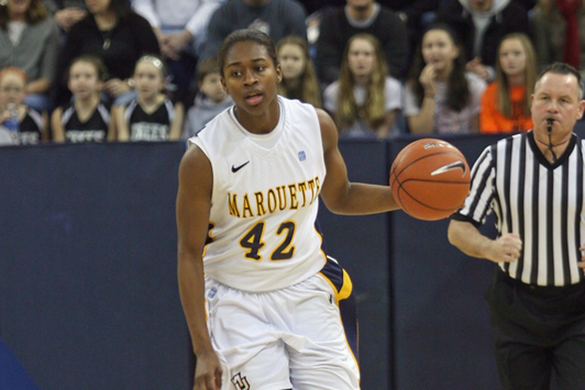 Sarina Simmons came off the bench against Fordham to score 10 points for the Golden Eagles.
