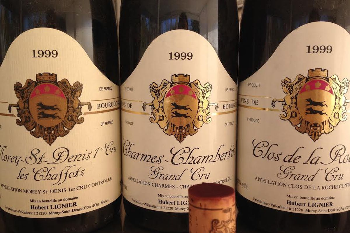 Burgundy wines.