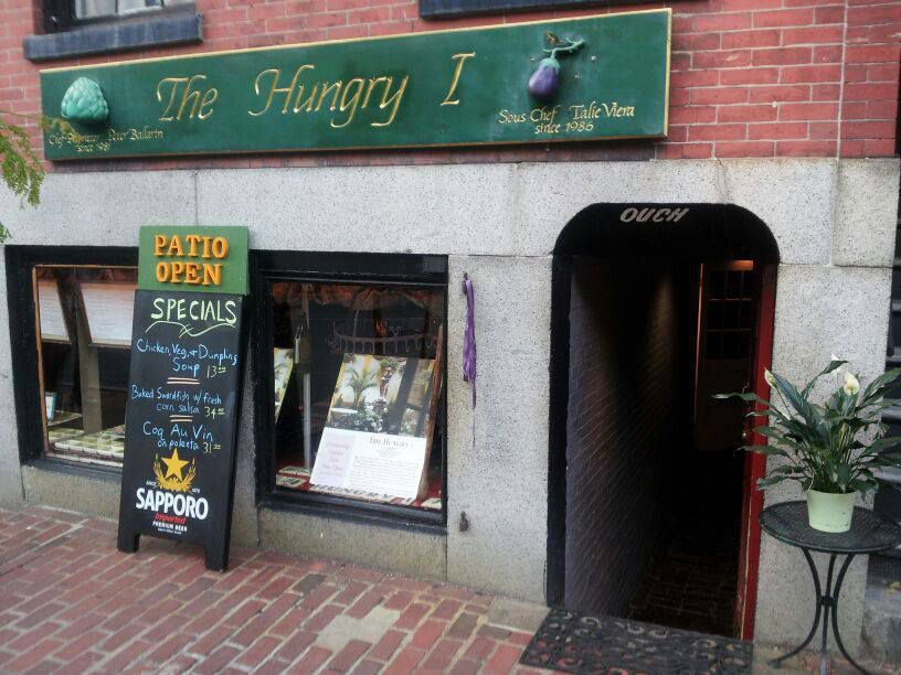 Exterior of The Hungry I restaurant in Boston's Beacon Hill