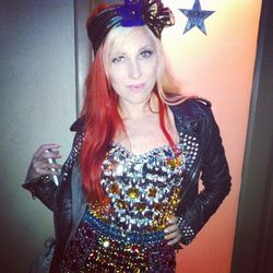 We loved Katy Perry songwriter Bonnie McKee's bedazzled Dolce & Gabbana bodysuit