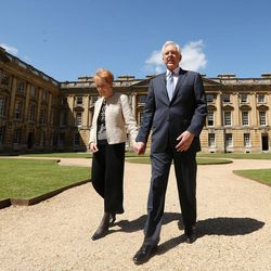 Elder D. Todd Christofferson, of the Quorum of the Twelve Apostles of The Church of Jesus Christ of Latter-day Saints, takes a tour with his wife, Sister Katherine Christofferson, at Christ Church, Oxford University prior to speaking in Oxford, England on Thursday, June 15, 2017.