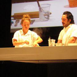 Pastry chef Katy Peetz and chef Carlo Mirarchi, Roberta's, New York City.