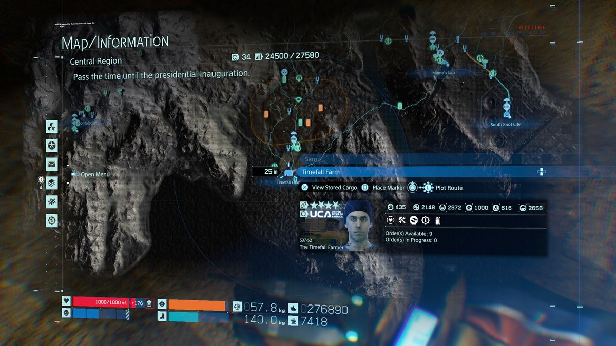 Location of the Timefall Farm, where you unlock the scanner upgrade