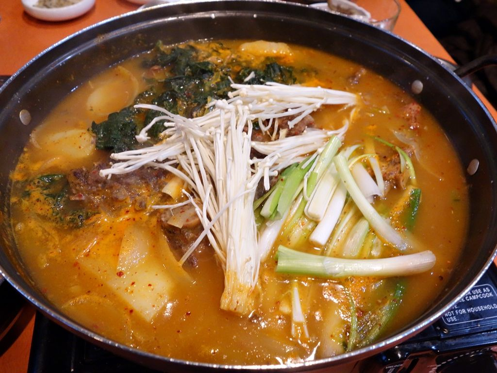 Pork bone soup at Sam Oh Jung.