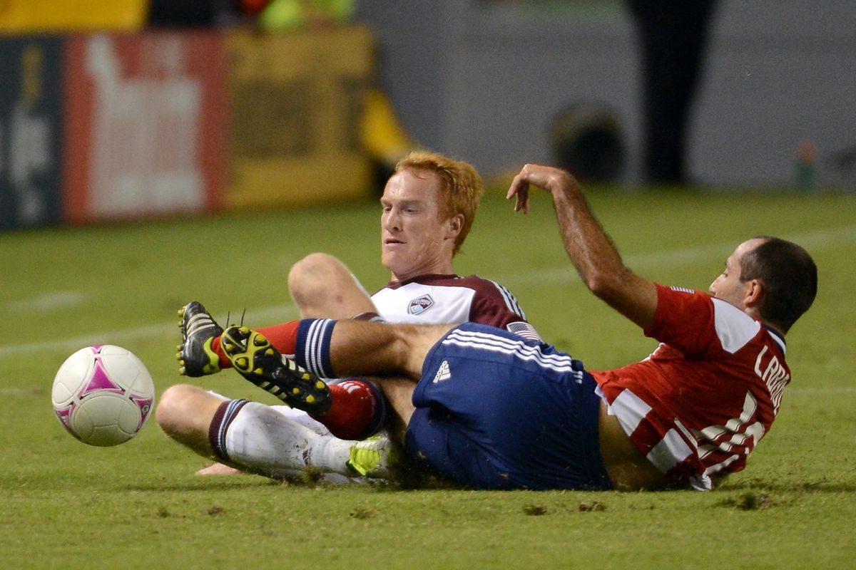 Larentowicz and Labrocca. A couple of options that could get dangled at Kevin Payne for a draft pick.