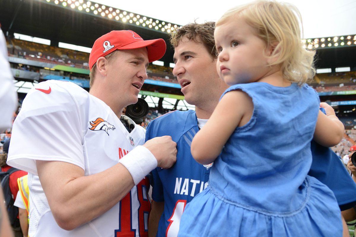 This year Eli Manning and big brother Peyton ended up in the Pro Bowl instead of the Super Bowl