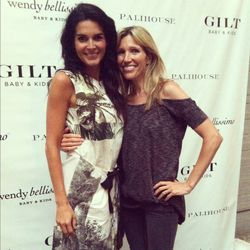 Angie Harmon with designer Wendy Bellissimo