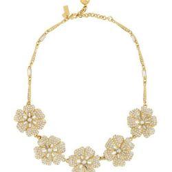 "<a href=""http://www.katespade.com/designer-jewelry/necklaces-for-women/pave-posey-necklace/WBRU2937,default,pd.html?dwvar_WBRU2937_color=921&start=99&cgid=sample-sale"">Pavé Posy necklace</a>, $79.00 (was  $245.00)"