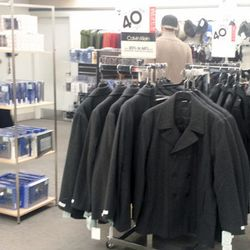 In the men's department, coats are marked down to an additional 40% off.