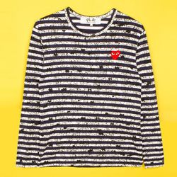 """<b>Comme des Garcons PLAY x Matt Groening</b> Long Sleeve Striped Jersey Tee, <a href=""""http://www.openingceremony.us/products.asp?menuid=2&designerid=1185&productid=49569&key=stripe&sproductid=49570"""">$210</a> at Opening Ceremony"""