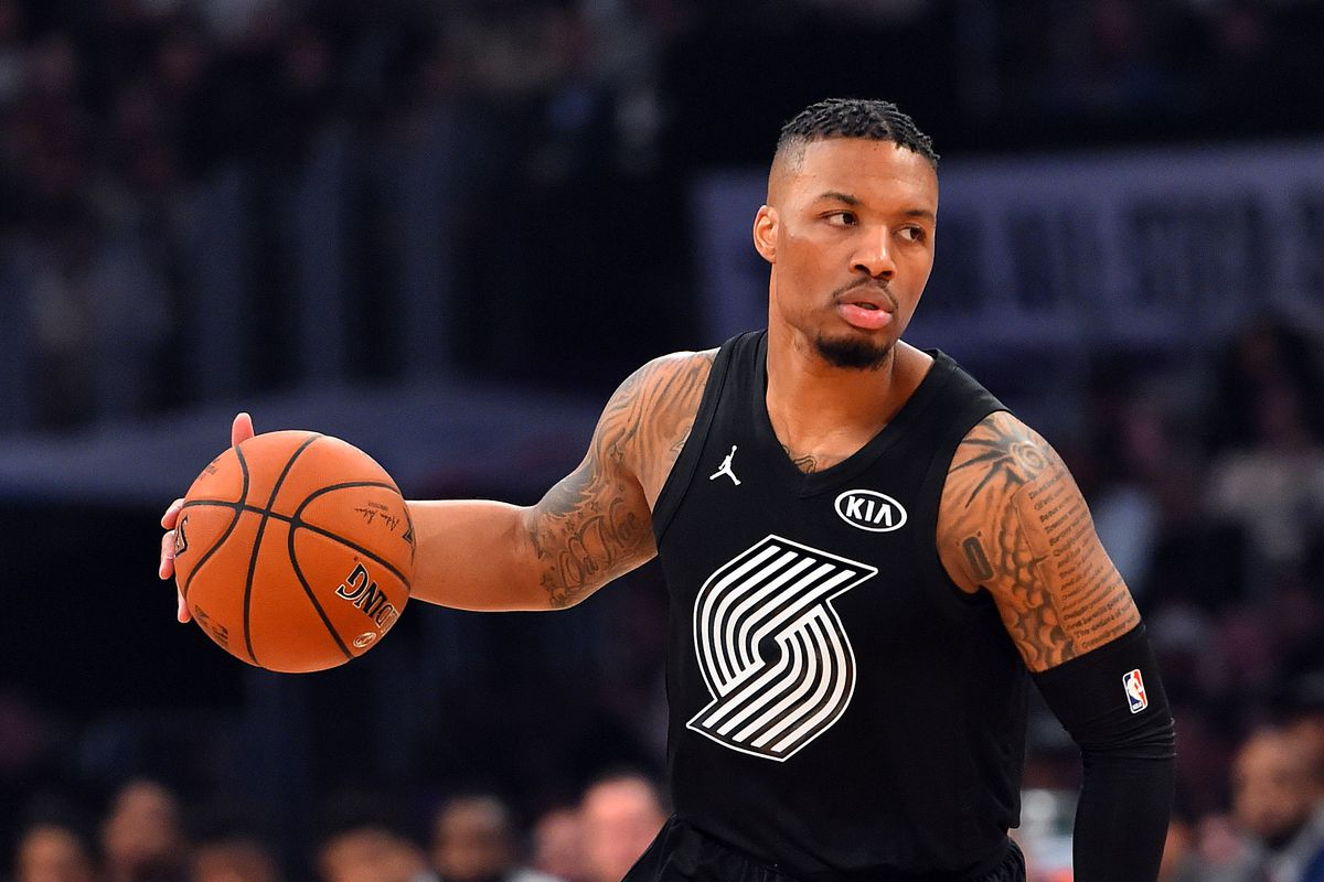 premium selection f8c5a 94d86 Video: Damian Lillard Notches 21 in Dazzling 2018 All-Star ...