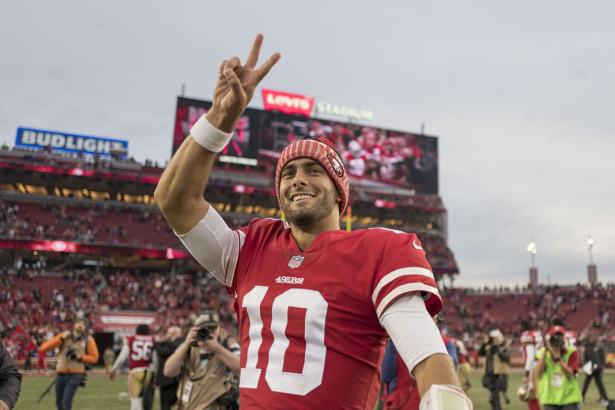 bbf17591 Jimmy Garoppolo climbed into top 30 in jersey sales for 2017 season ...