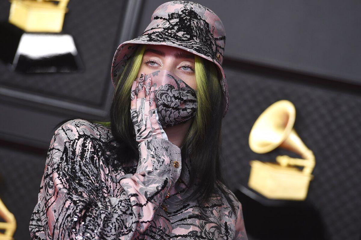 Billie Eilish arrives at the 63rd annual Grammy Awards.