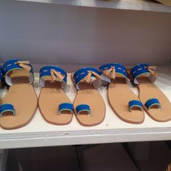 Flat sandals, $30