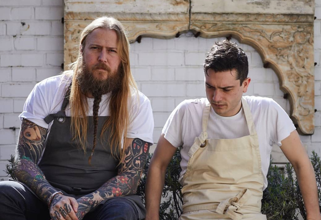 Chefs Andrew Clarke and Jackson Boxer