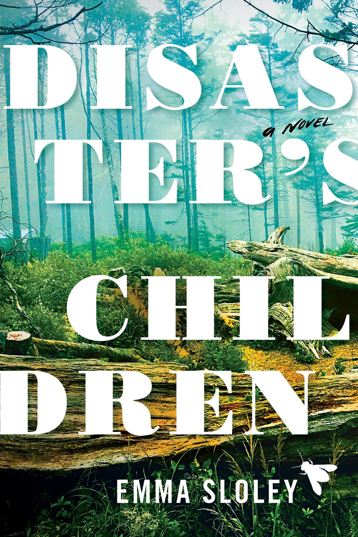 the cover for disaster's children which has the title in bold against a verdant forest