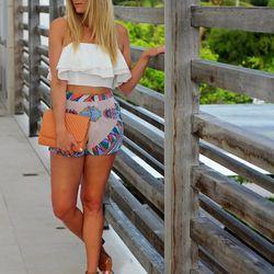 "Devon of <a href=""http://www.devonrachel.com""target=""_blank"">Devon Rachel</a> is wearing a Zara top, <a href=""http://www.revolveclothing.com/lovers-friends-live-your-life-shorts-in-blush-scarf/dp/LOVF-WF28/?AID=10568535&PID=4441350&utm_medium=affiliate&ut"