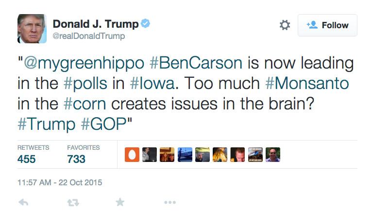 Donald Trump insults Iowans