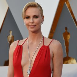 Charlize Theron in $3.7 million in Harry Winston jewels.