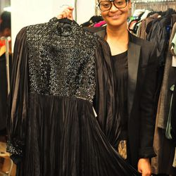 <b>Deux Fois</b> is a vintage inspired online boutique that offers great pieces at reasonable prices. Owner <b>Maylyn Lyn</b> offers full service personal styling and fashion consulting. She shows us a long sleeved sequined black dress (above) from her vi