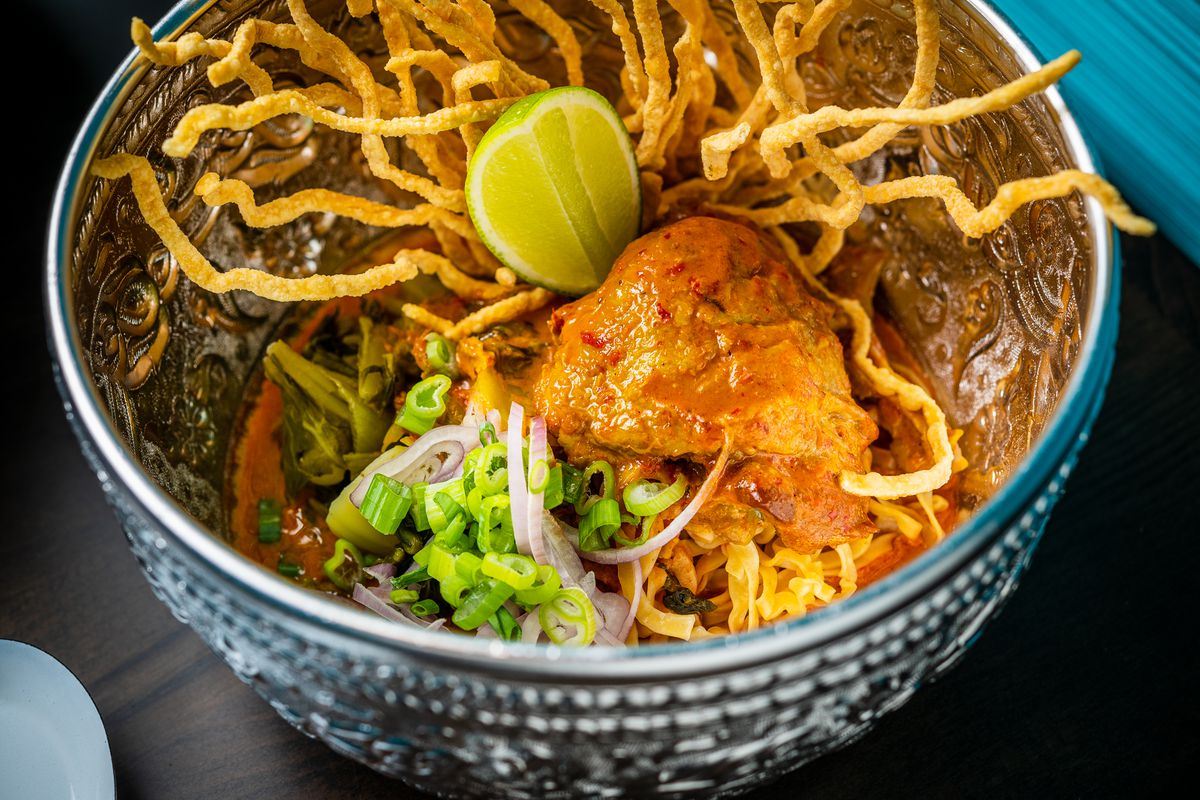 Chef Jeeraporn Poksupthong's beloved chicken khao soi is back at Baan Siam
