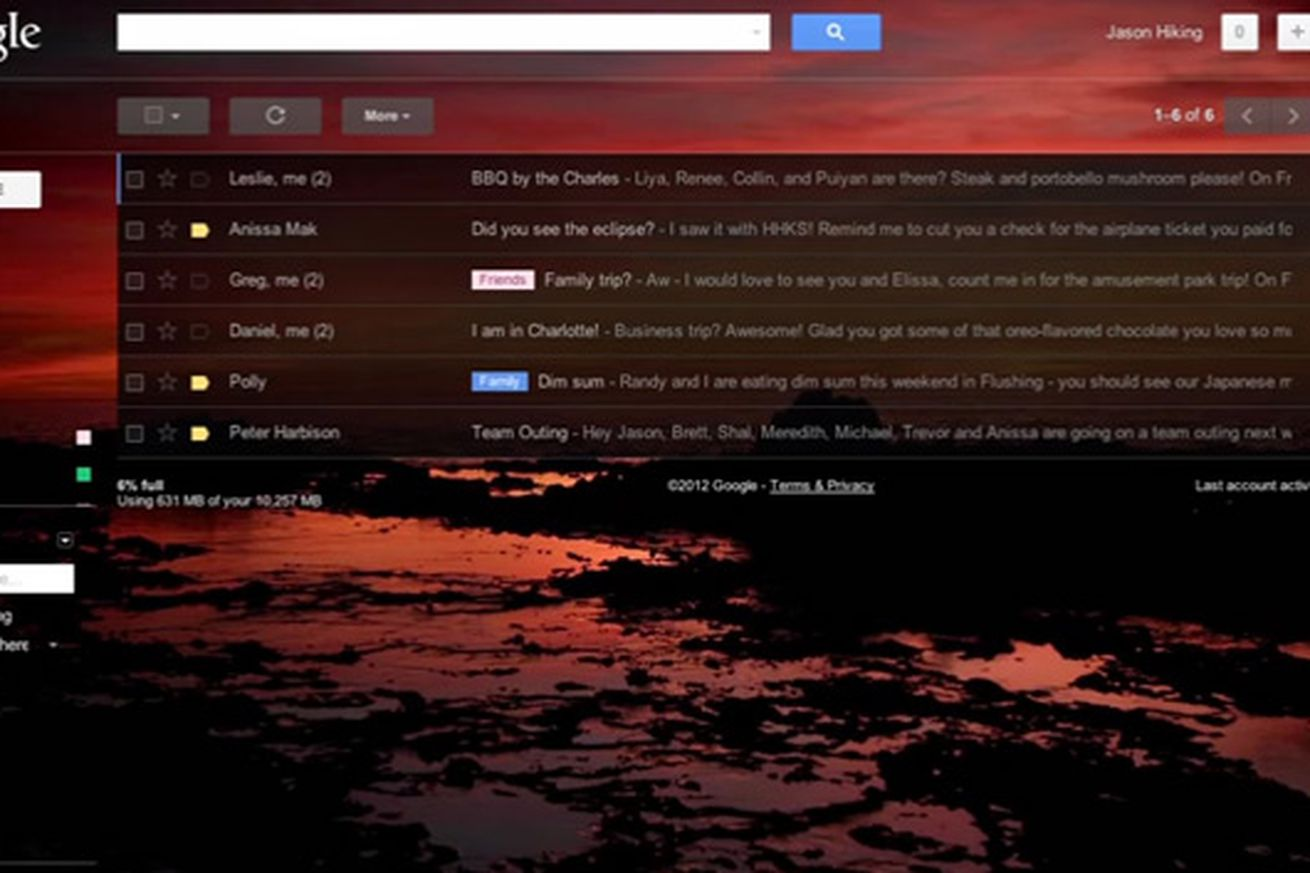 Gmail love theme - New Gmail Custom Themes Let You Set Your Own Background Image The Verge