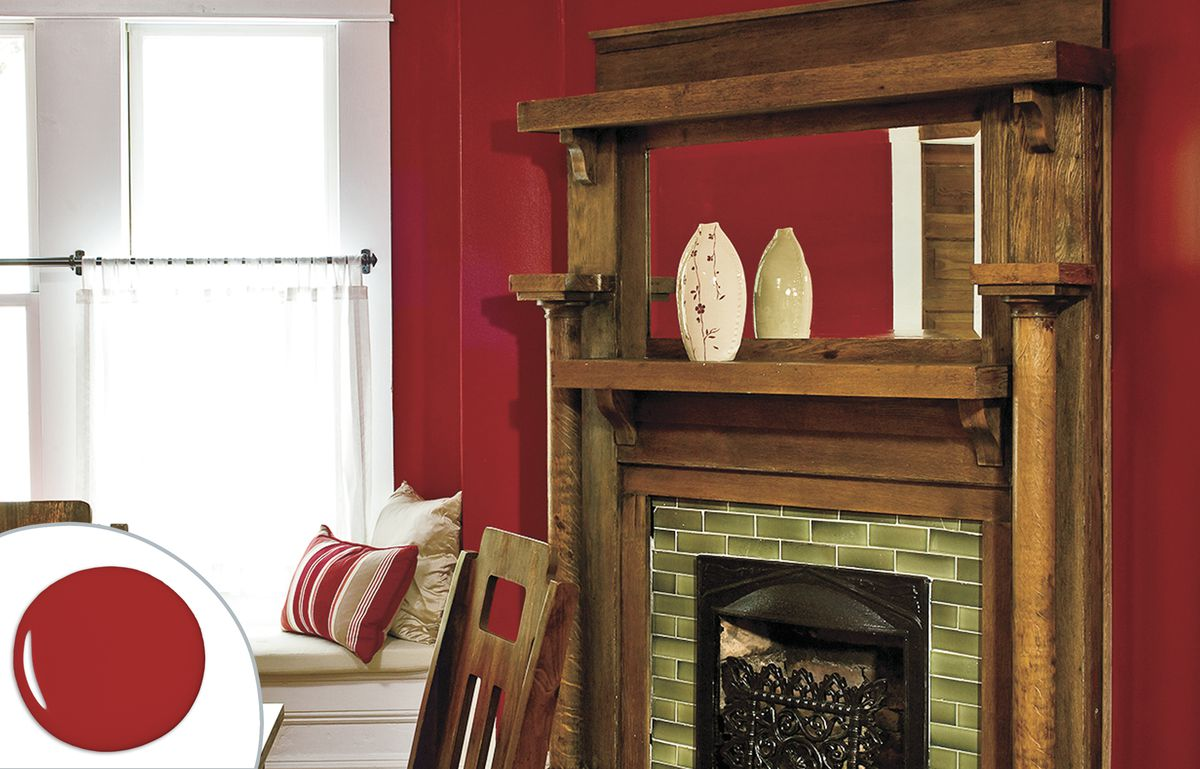 Deep Red Dining Room Paint Color