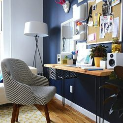 The office space of Megan Collins, of men's lifestyle site, Style Girlfriend.
