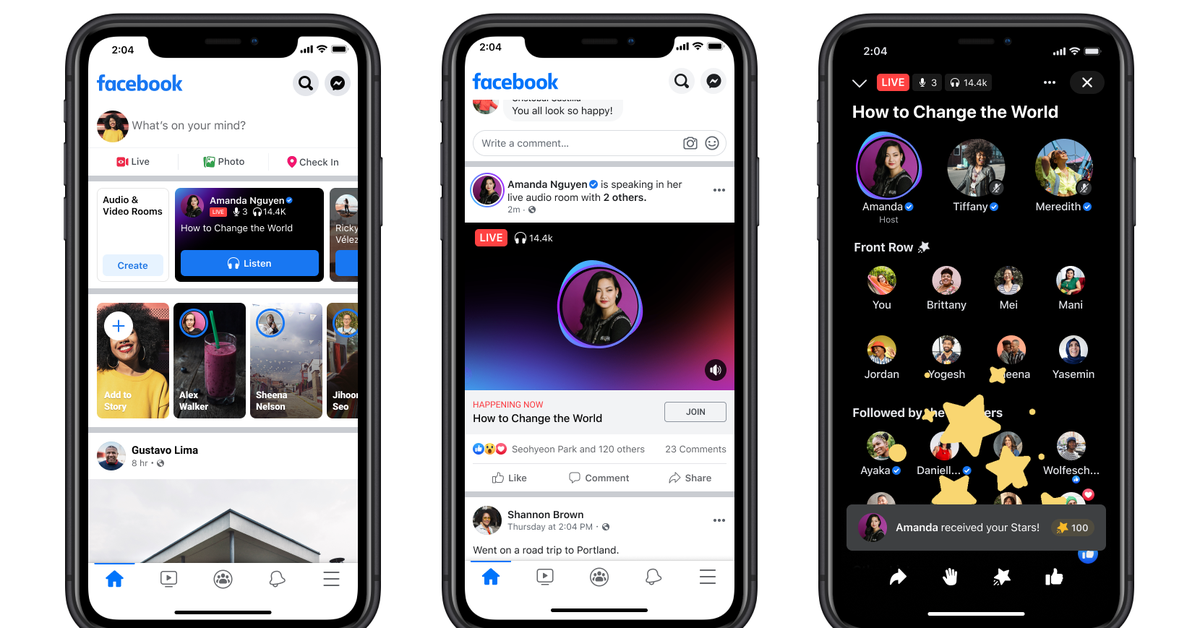 Facebook's Live Audio Rooms start rolling out in the US