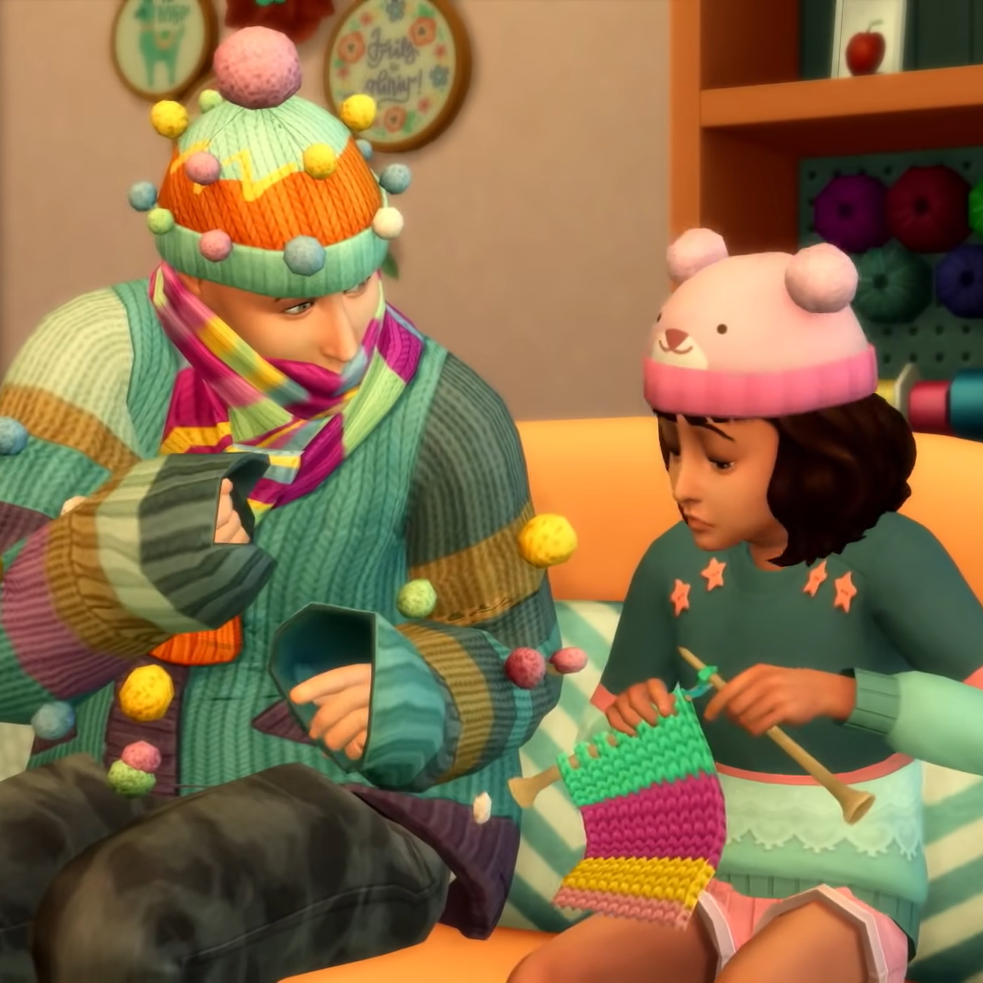 The Sims 4 Nifty Knitting S Knitting Animation Reviewed Polygon