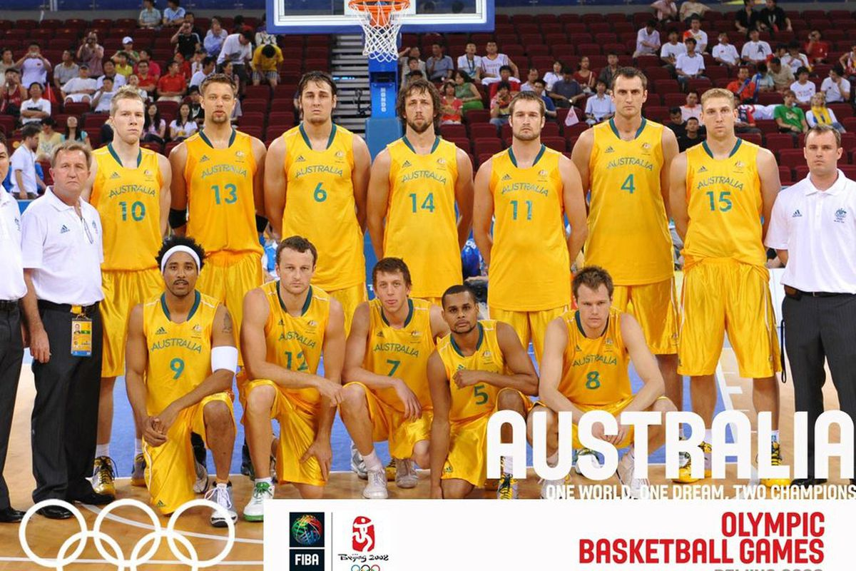 """Big Dave resides second from the left in the back row.  Though he's not quite as tall as fellow Australian Andrew Bogut, """"Dayuve"""" has a better jump shot.  And yes, that was a cheap attempt at writing with an Australian accent."""