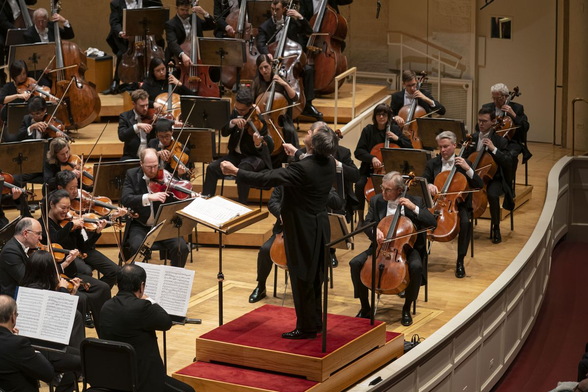 Maestro Riccardo Muti conducts the Chicago Symphony Orchestra in a program featuring Beethoven's Second and Fifth Symphonies as part of the CSO's season-long celebration of Beethoven's 250th anniversary at Symphony Center on Thursday night.
