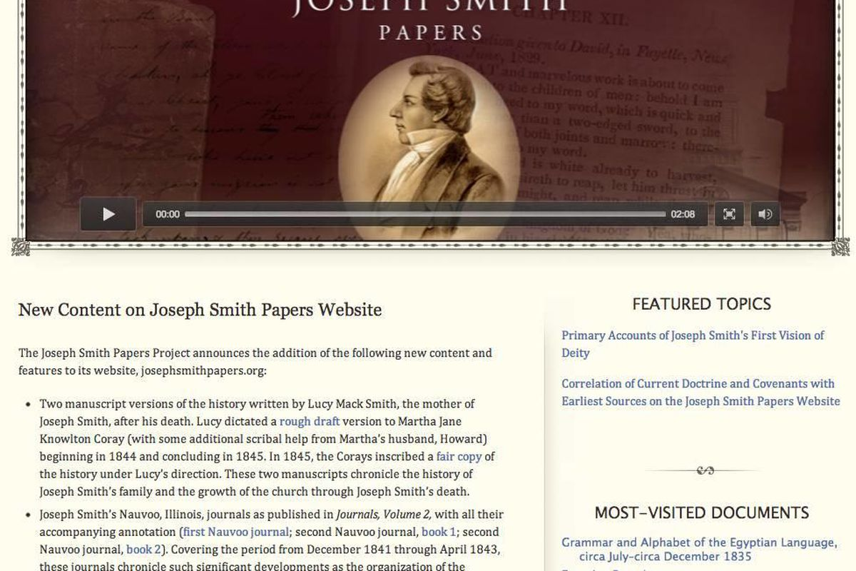 """Dr. Terryl Givens has suggested that """"members also could do more to avail themselves of reliable resources that are readily available, such as the Joseph Smith Papers, and histories and biographies by respected academic presses."""""""