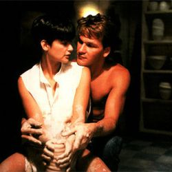 3. <b>Ghost (1990):</b> Sleeveless white button-downs are highly conducive to undead pottery sex.