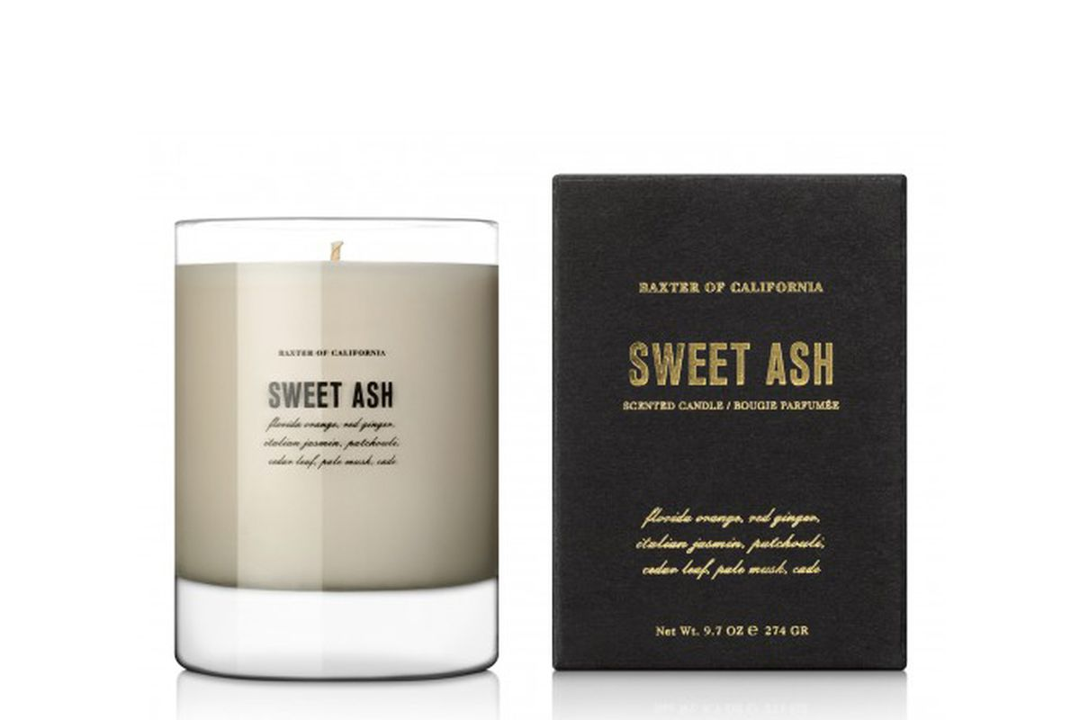 """Sweet Ash candle, <a href=""""http://www.baxterofcalifornia.com/sweet-ash"""">$60</a> at Baxter of California"""