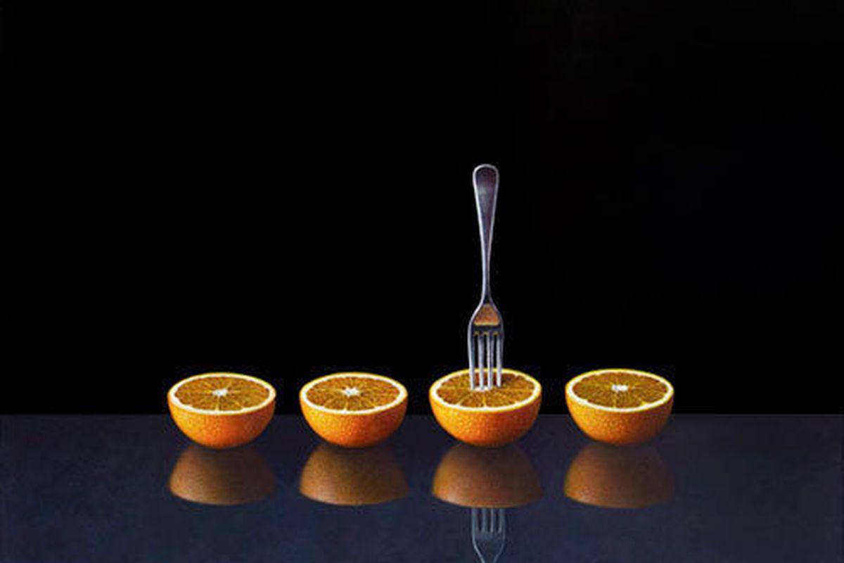 A Fujii Four Oranges With Fork, Atsuko Fujii