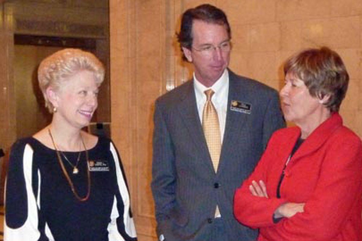 State Board of Education members Debora Scheffel, Paul Lundeen and Angelika Schroeder in 2011.