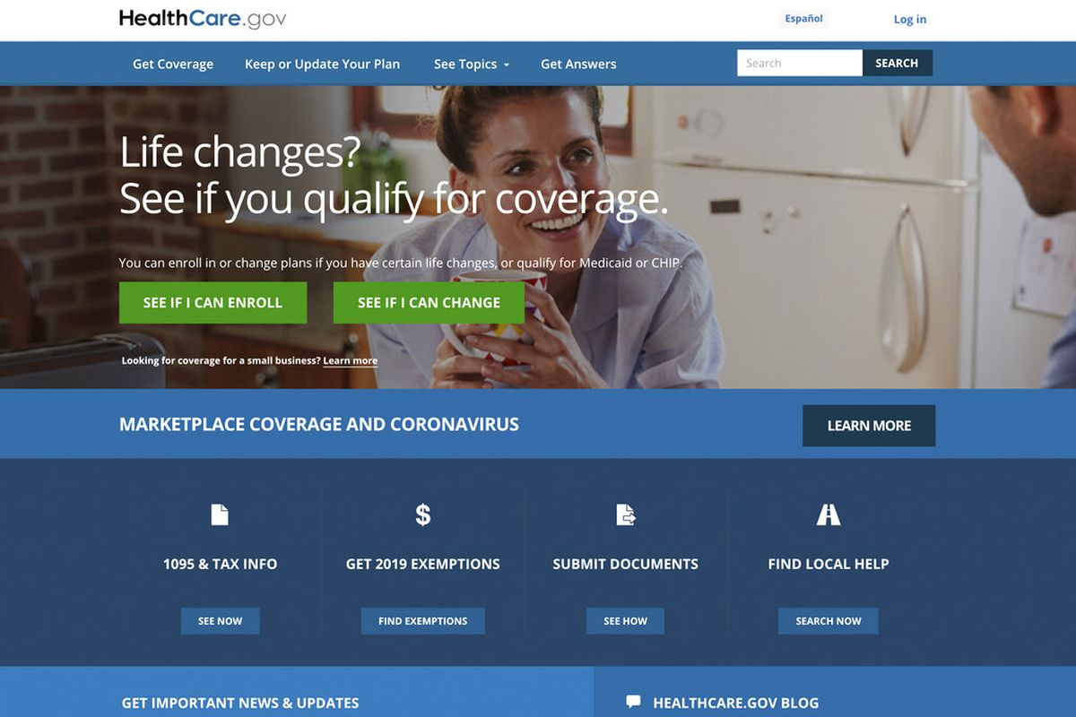 This file image provided by U.S. Centers for Medicare & Medicaid Service shows the website for HealthCare.gov.