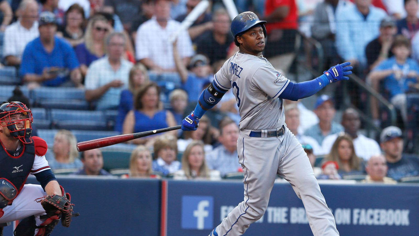Hanley Ramirez,Andrelton Simmons交易RBI双打,Dodgers-Braves并列1-1