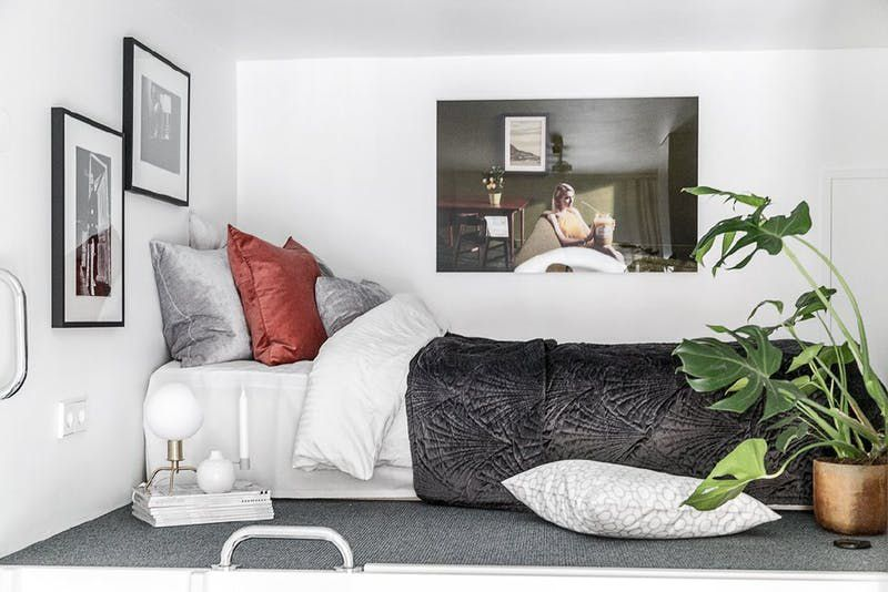 Via  Apartment Therapy. Small living is taken to a stylish extreme in 100 square foot