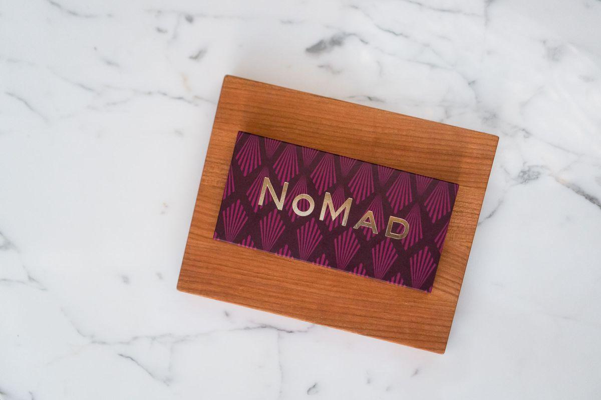 Chocolate bar at NoMad Bar