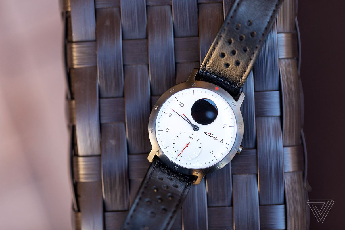 Withings Steel HR Sport with a leather strap by Triwa.