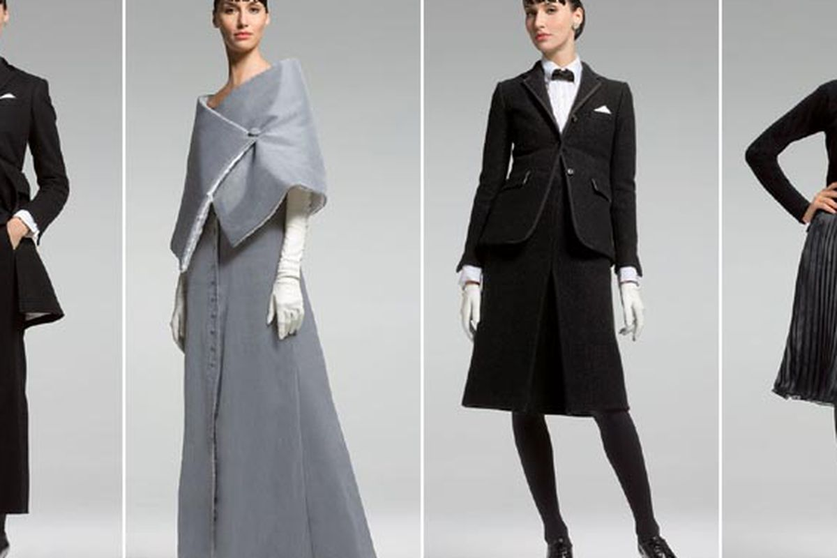 """Thom Browne for Black Fleece Fall 2007 via <a href=""""http://www.google.com/imgres?imgurl=http://farm2.static.flickr.com/1428/1304582470_d3a941e083_o.jpg&amp;imgrefurl=http://www.chicandcharming.com/2007/09/thom-browne-at-brooks-brothers-reviewed.html"""
